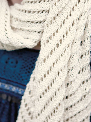 Courant Wide Eyelet Scarf Knitting Pattern Free Knitting Bee