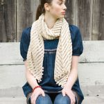 Courant Wide Eyelet Scarf Knitting Pattern Free