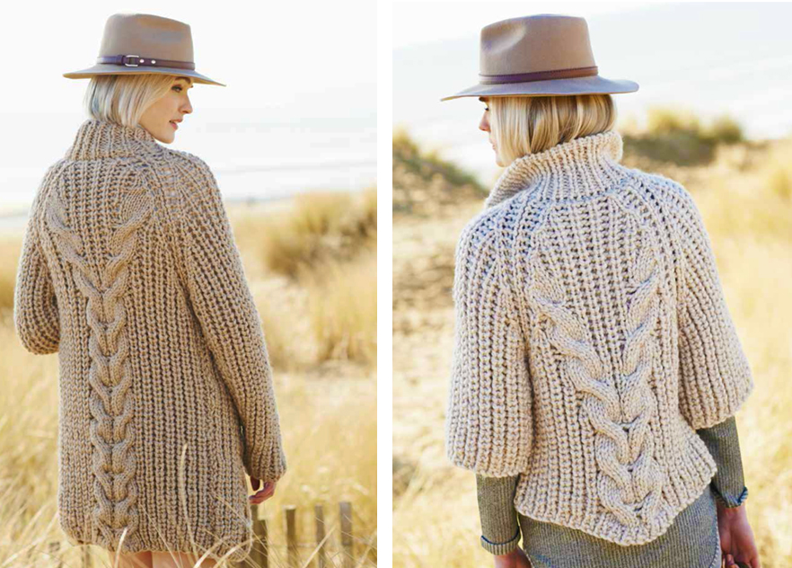 Knitting Cardigan Design : Creative twist and cable cardigan free knitting pattern