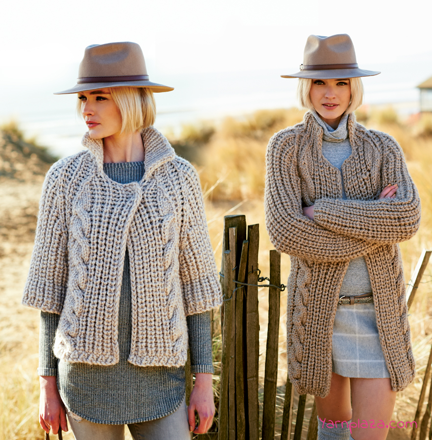 Creative Twist and Cable Cardigan Free Knitting Pattern ⋆ Knitting Bee