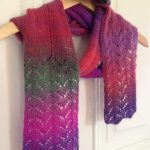 Deco scarf free lace knitting pattern