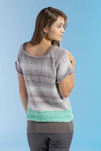 Dip-Dyed Cardigan Free Knitting Pattern back