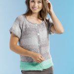 Dip-Dyed Cardigan Free Knitting Pattern