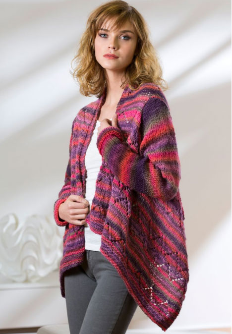 Drape Front Cardigan Pattern - Cardigan With Buttons