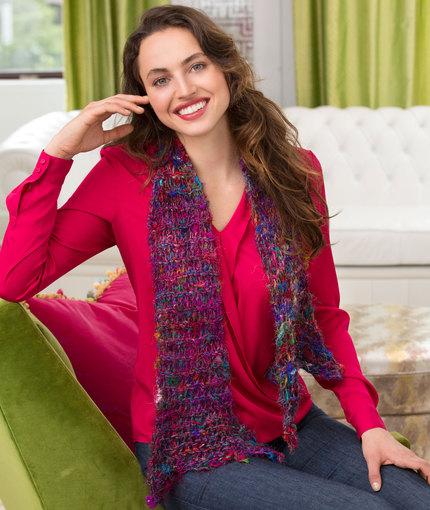 Drop Stitch Knit Scarf free