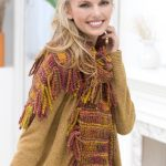 Drop-stitch Tassel Scarf Free Knitting Pattern