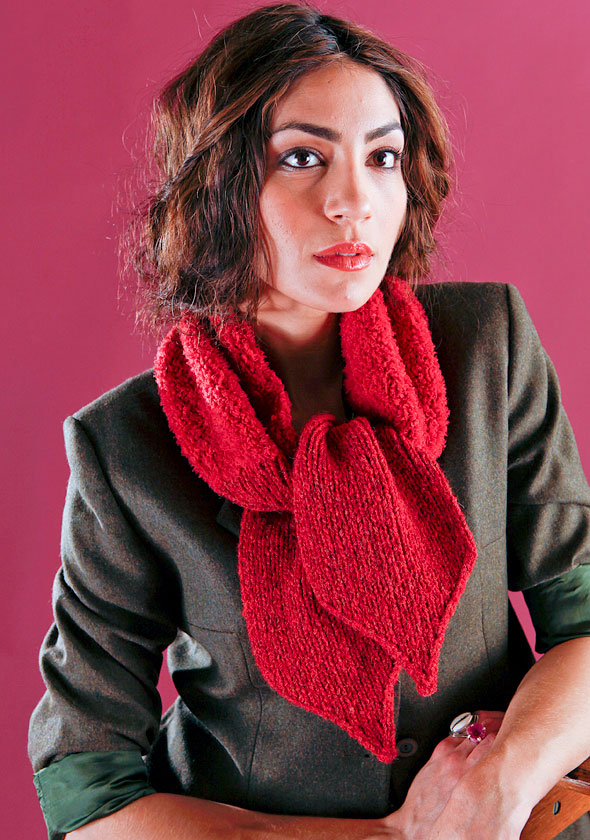 Espresso Easy Scarf Knitting Pattern Free