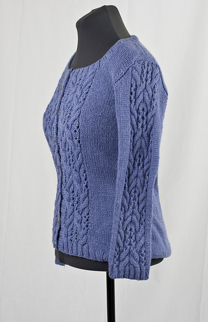 Everyday Cardigan with Lace and Cable Stitch Feature 1