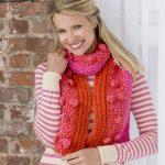 Fashion Bobble Scarf Free Knitting Pattern