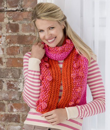 Fashion Bobble Scarf Free Knitting Pattern