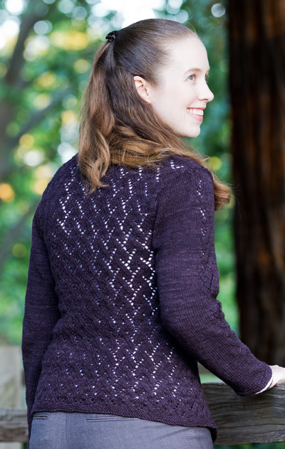 Flippant - Open Lattice Lace Cardi Pattern 1