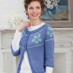 Floral Yoke Cardigan Free Knit Pattern