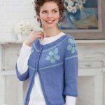 Floral Yoke Cardigan Free Knit Pattern