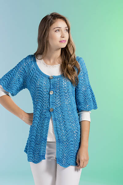 Free Waves Cardi Knit Pattern