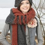 Fringed Hat and Scarf free pattern to knit