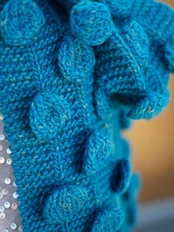 Gerard Bobble Scarf Free Knitting Pattern 1