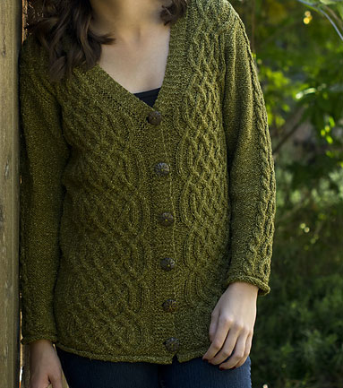 01368f46f111 Graceful Cable Cardigan Free Knit Pattern ⋆ Knitting Bee