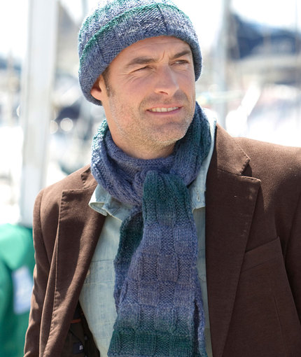 Hat & Scarf for I'Homme Free Knitting Pattern
