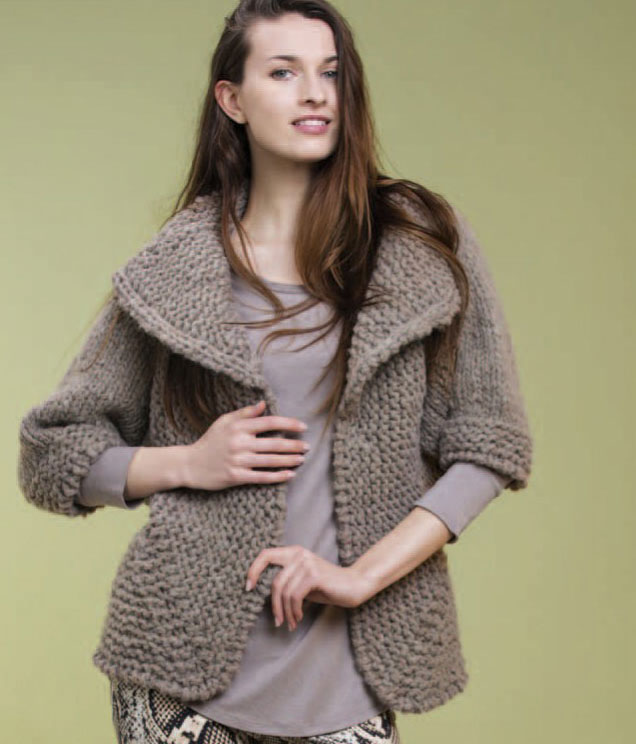 Hermoso Jacket Free Knitting Pattern ⋆ Knitting Bee