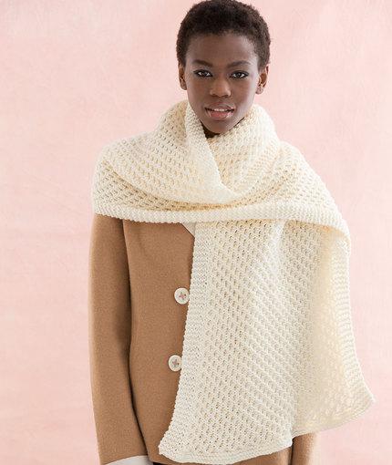Honeycomb Stitch Scarf Free Knitting Pattern
