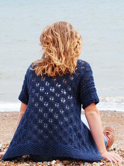 Indigo Cones Free lace Cardigan Knit Pattern