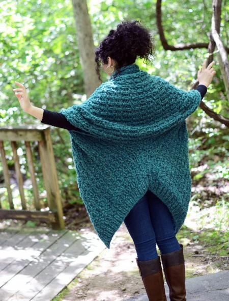 Insulate Cardigan Free Knitting Pattern back