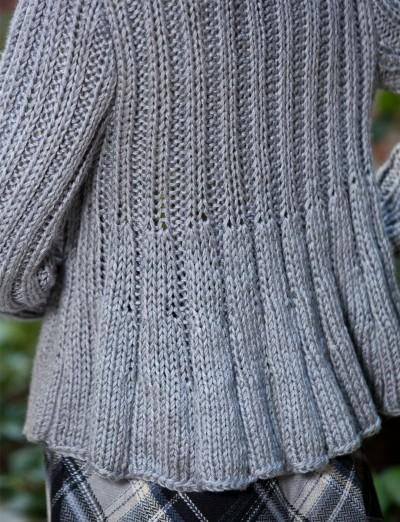Intermediate Womens Swing Jacket Free Knit Pattern Knitting Bee