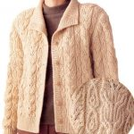 Japanese Cabled Cardigan Free Knitting Pattern