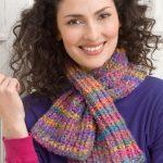 Keyhole Knit Scarf Free Pattern