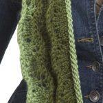 Caron Knit Layered Scarf Free Intermediate Women's Knit Pattern