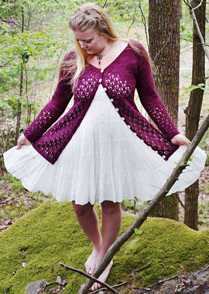 Krydda Free Lace Cardigan Knitting Pattern