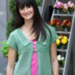 Lace & Garter Cardigan Free Knit Pattern