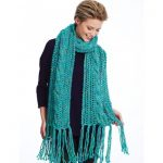 Ladders and Cables Scarf Free Knit Pattern