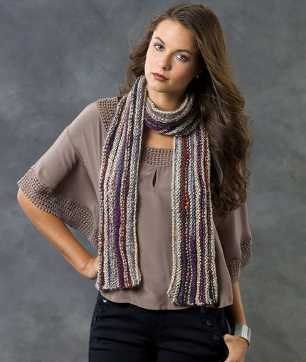 Lengthwise Knit Scarf