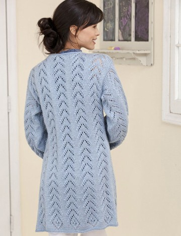Long & Lacy Knit Jacket back