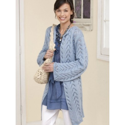 Long Lacy Knit Jacket Free Pattern Knitting Bee