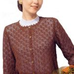Long Sleeved Lace Cardigan Free Knitting Pattern