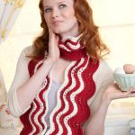 Makin' Bacon Ripple Scarf free knit pattern
