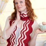 Makin' Bacon Ripple Scarf free knit pattern