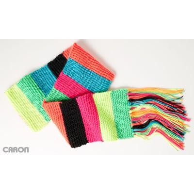 Mood Scarf - Garter stitch knit pattern