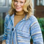 Multi-Directional Striped Cardigan Free Knit Pattern