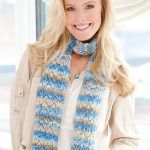 Pacific Skies Knit Scarf Free Pattern