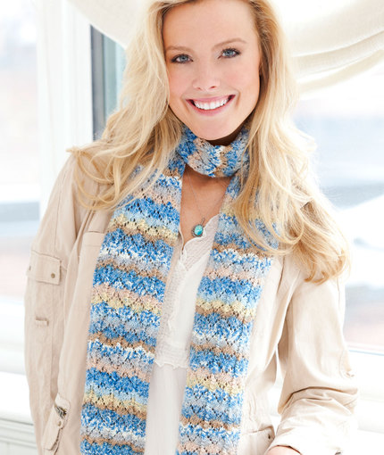 Pacific Skies Knit Scarf