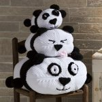 Panda Stack Free Pillow Stack Knitting Pattern