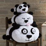 Panda Stack Free Pillow Stack Knitting Pattern