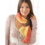 Patons All About You Scarf Free Easy Women's Knit Pattern