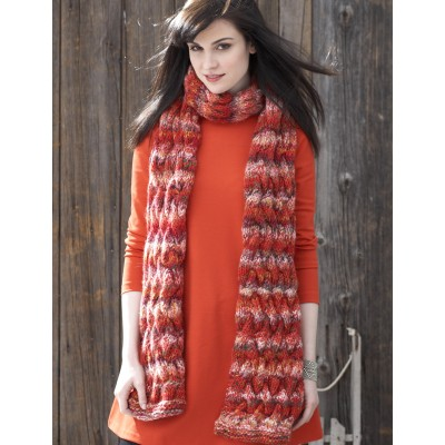 Patons Basketweave Cable Scarf