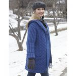 Patons Cabled Car Coat with Hood