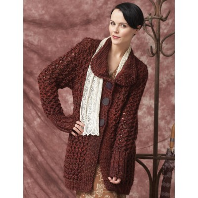 Patons Charming Cardigan Free Intermediate Women's Knit Pattern