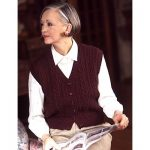 Patons Classic Cables button down vest free knitting pattern